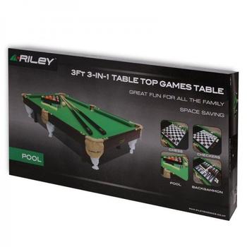 Бильярдный стол RILEY ПУЛ 3ФТ 4 В 1 с комплектом аксессуаров, фото 6